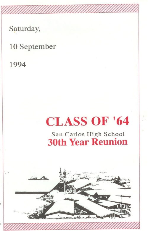 Invitation To Our 30th Reunion